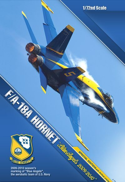 "McDonnell Douglas F/A-18A Hornet ""Blue Angels 2009/2010"". Academy, 1/72, injection, No.12424. Price: 18,00 GBP."