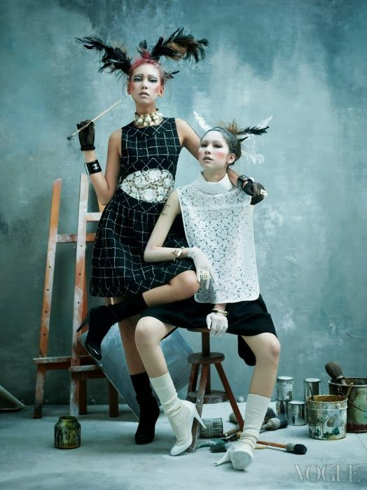 """""""Art Factory"""" Models in Chanel by Kim Bo Sung for Vogue Korea 2014"""