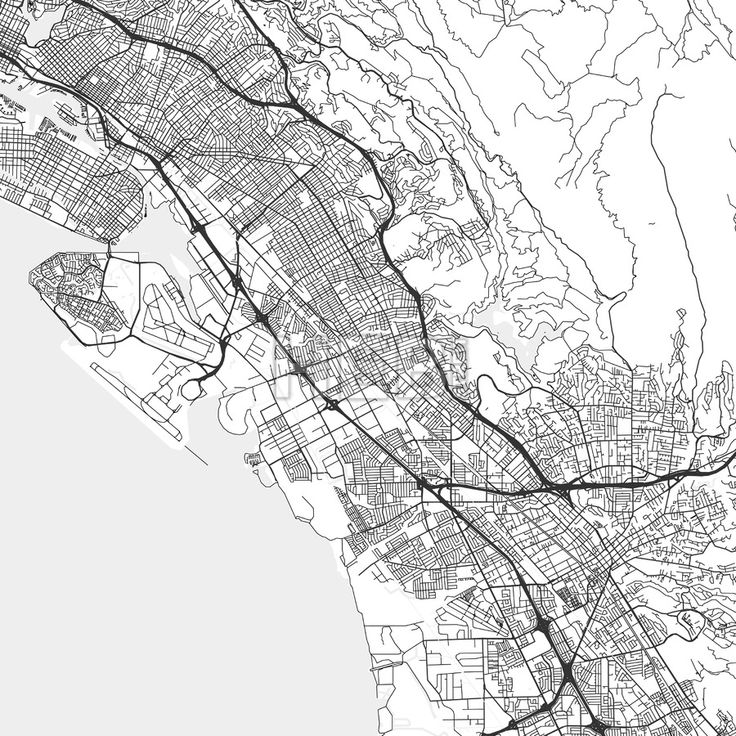 San Leandro downtown and surroundings Map in light shaded version with many details for high zoom levels. This map of San Leandro contains typical lan... ... #map #download #citymap #areamap #usa #background #clean #city #area #modern #landmarks #ui #ux #hebstreit