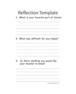 reflection lesson plan template second grade lesson plans