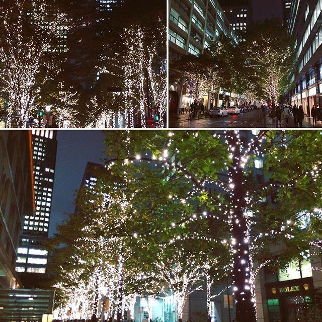 Instagram【maya_tkjp】さんの写真をピンしています。 《'Tis the season (already!)🎄✨Christmas lights shine bright in Marunouchi🌟  #marunouchi #tokyo #japan #christmas #illumination #marupix #tokyolife #ig_japan #ig_today #cityscape #citylights #streetphotography #tokyocameraclub #night #丸の内 #丸の内仲通り #丸の内イルミネーション #イルミネーション #シャンパンゴールド #東京 #東京駅 #クリスマス #東京カメラ部 #夜景 #夜 #仕事帰り》