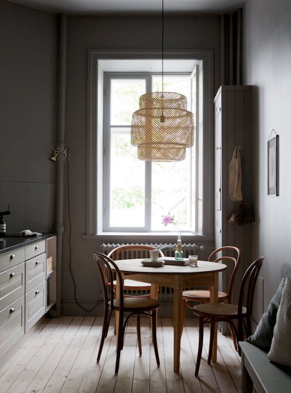 my scandinavian home: An beautiful Malmö home (dark grey walls in the kitchen).