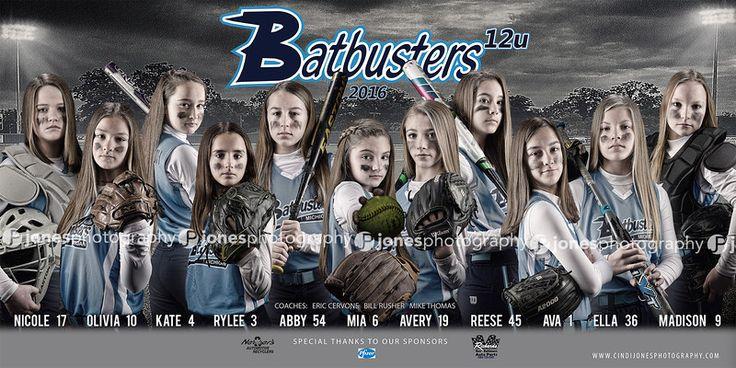 Batbusters Softball Team Banner 2016