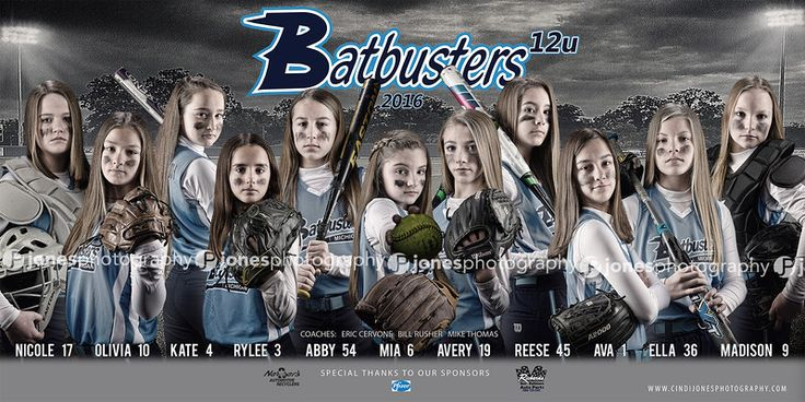 Batbusters Softball Team Banner 2016
