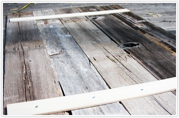 headboard wooden diy fence posts instructions step by step