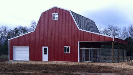 Gambrel pole barn kits woodworking projects plans for Barn kits prices