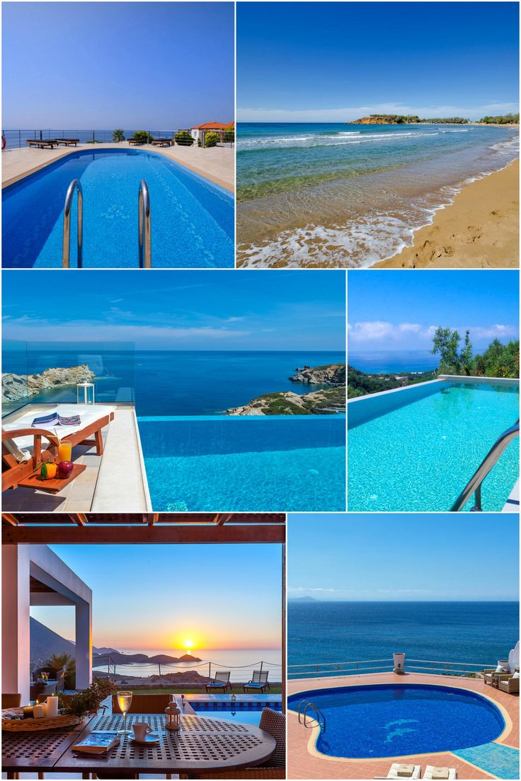 Travel in sunny Crete and stay in a lovely sea view villa!
