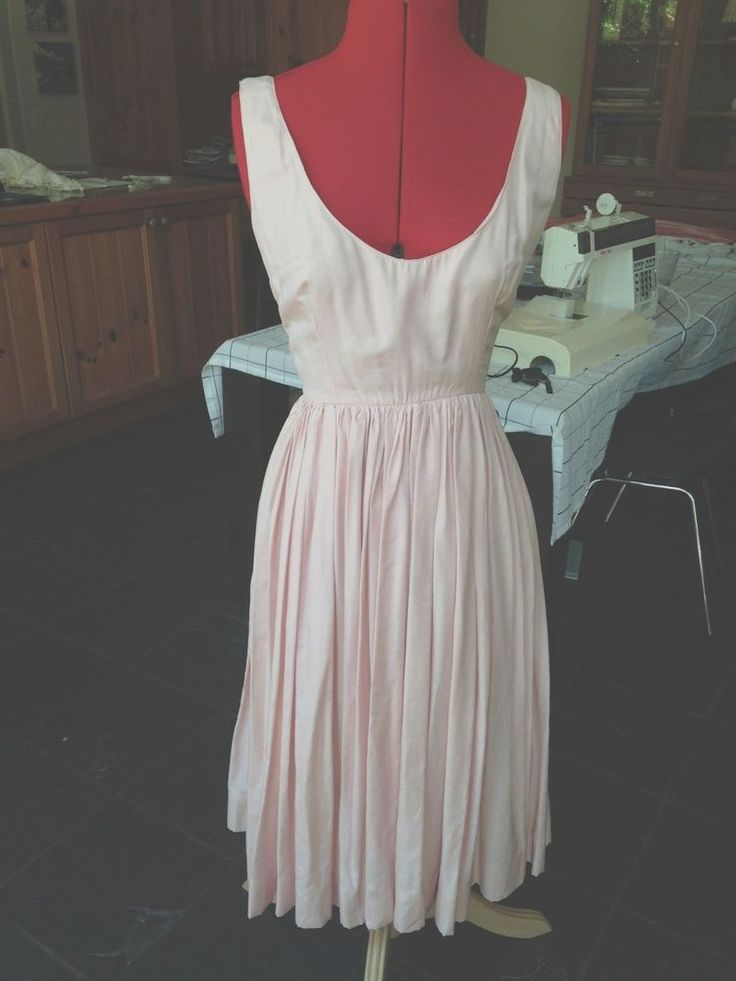 Pale Pink Silk Dress size 10 Aus