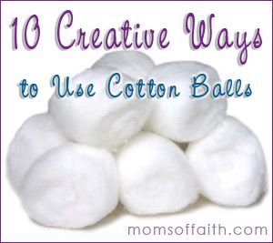 10 creative ways to use cotton balls tips cottonballs ideas moms ideas to try pinterest - Cotton ballspractical ideas ...