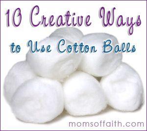 10 creative ways to use cotton balls tips cottonballs ideas moms ideas to try pinterest - Cotton ballspractical ideas ...