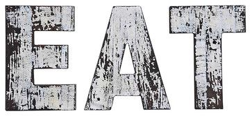 Eat Sign, Distressed Paint - contemporary - Novelty Signs - SmartFurniture