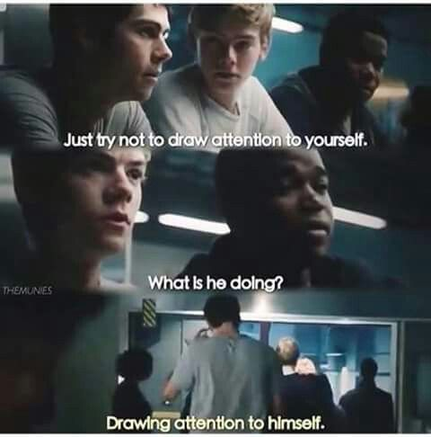 The wording was a little different, but I loved this part << That's Thomas....