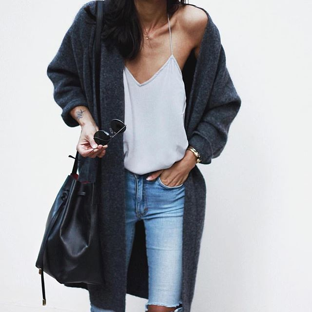 Throw a long cardigan over a casual outfit for a relaxed winter look | Shop new arrivals on Effinshop.com xx
