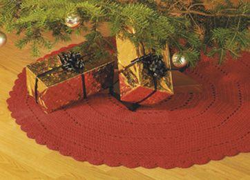 Et hjemmelavet juletræstæppe har man glæde af hver eneste jul
