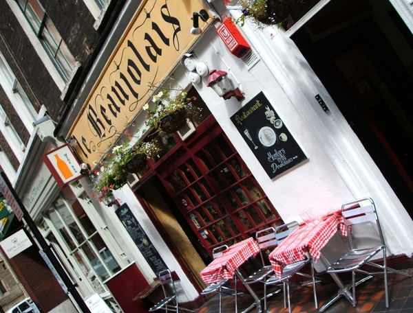 Beaujolais wine & cheese bar, London