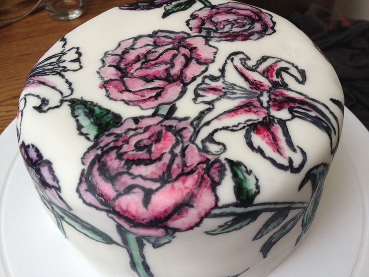 My First hand painted cake