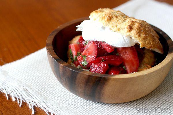 Strawberry + Mint Shortcakes