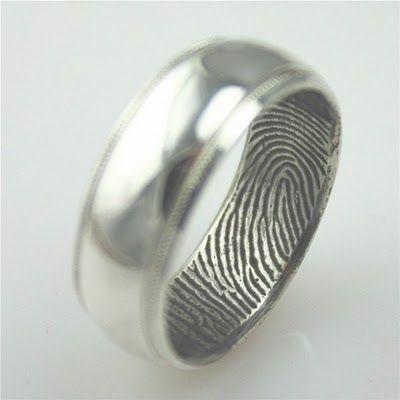 I like the idea of a fingerprint ring for him!