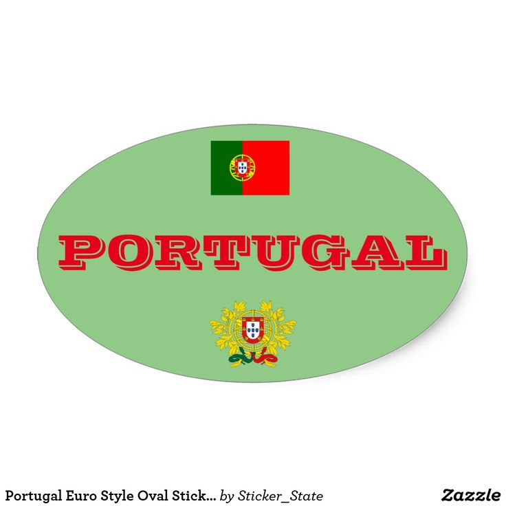Portugal Euro Style Oval Sticker