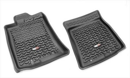 Rugged Ridge Front Floor mats for the 2007-2011 Toyota Fj Cruiser. Lifetime Warranty–Thermoplastic Material – Rugged Ridge Floor Liners are made of high pressure injection molded OE-quality Thermoplastic that looks and feels like rubber, but provides a nonslip surface. Nibbed and Floor Hook – Rugged Ridge Floor Liners take advantage of factory floor hooks and have nibs on the back of the liners help keep the liner in place. $89.90