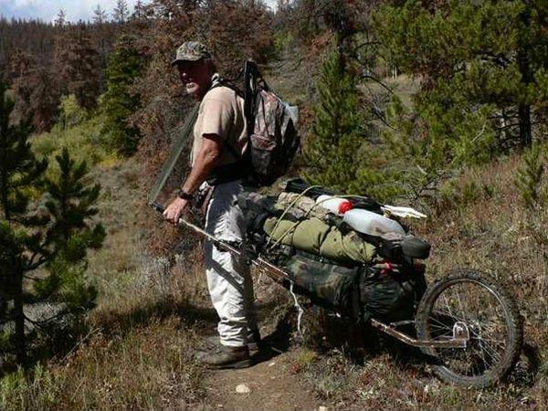 Back packing Cart ou chariot  de survie