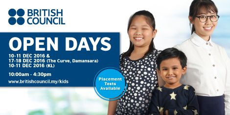 British Council Malaysia Open Day December 2016 ~ Parenting Times