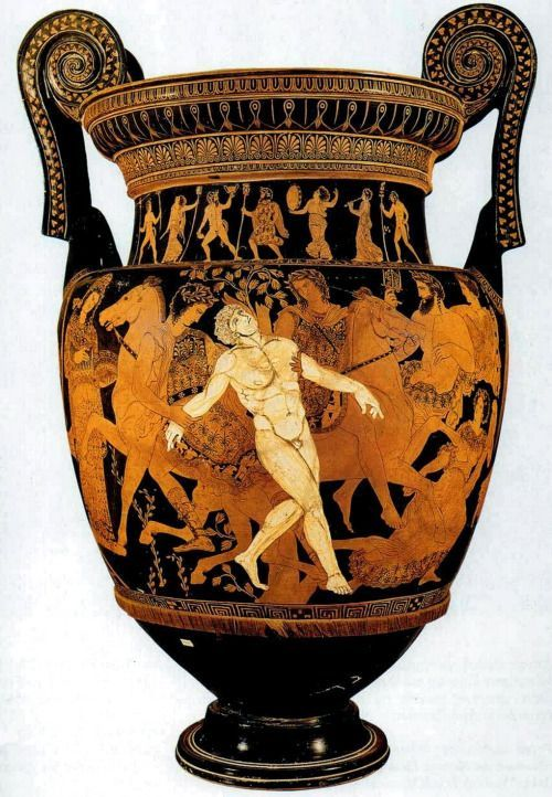boysnmenart:  The Death of Talos volute krater from 400 to 395 BC, height 75 cm