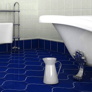 11 best cobalt blue tile images on pinterest blue tiles - Cobalt blue bathroom accessories ...
