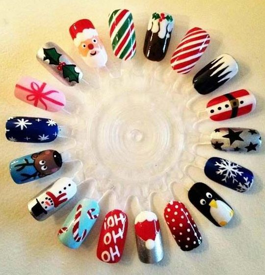 Christmas Nails Art - Ready to Party - Click pic for 25 Christmas Holiday Crafts DIY