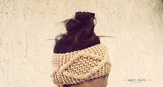 Knit Headband, Knit Headband, Knit Beanie, Turban, Cute Turban Headband, Ear Warmer, Winter Hairband, Hipster Headband, Bohemian Headband
