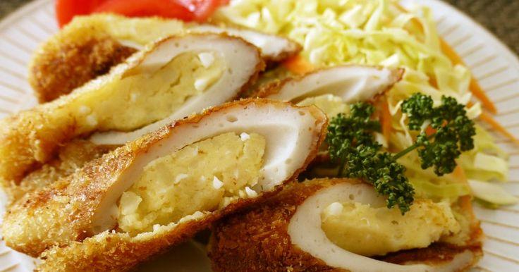 ポテトを詰めてお値打ち&ボリュームアップ♪味付け済みで冷めても美味しいのでお弁当にも♡フライパンで揚げ焼きは簡単です♡♡