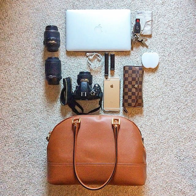 ONA bags are super stylish, yet exceedingly durable, perfect for the needs of demanding professionals. Take Majell del Castillo's Chelsea, for example. She fits a Nikon SLR w/ prime attached, two additional zooms, a MacBook Air, iPhone, wallet, keys, and more in a bag that wouldn't be out of place on the runways of Milan! // #onabags #InMyONA