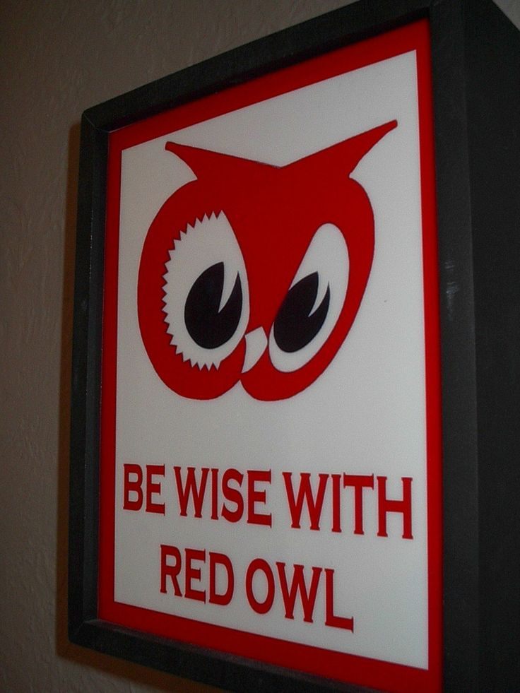 Red Owl Grocery Store Kitchen Man Cave Lighted Advertising