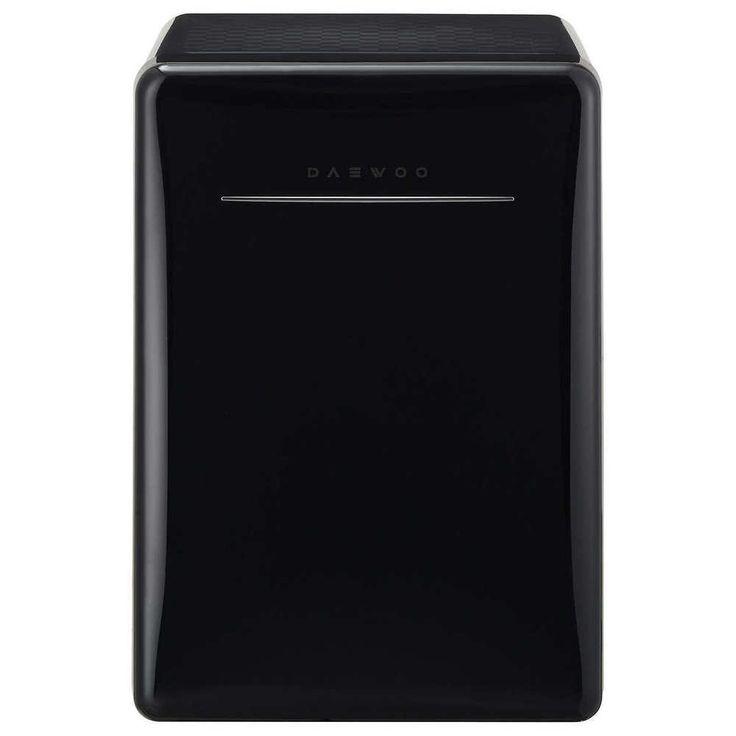 2.8 Cubic Ft Black Mini Fridge Retro Compact Refrigerator Shop Garage Office   #Daewoo