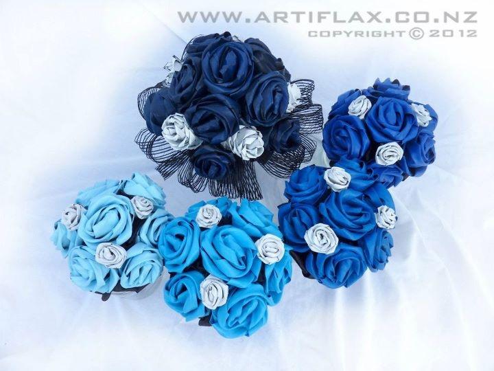 Wedding Flowers: blue flax wedding flowers