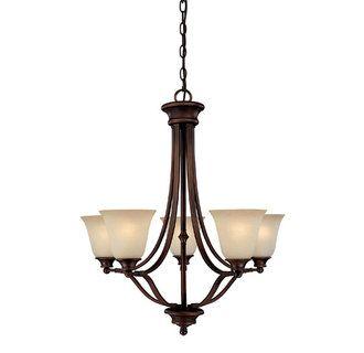 View+the+Capital+Lighting+3415-287+Belmont+5+Light+1+Tier+Linear+Chandelier+at+LightingDirect.com.