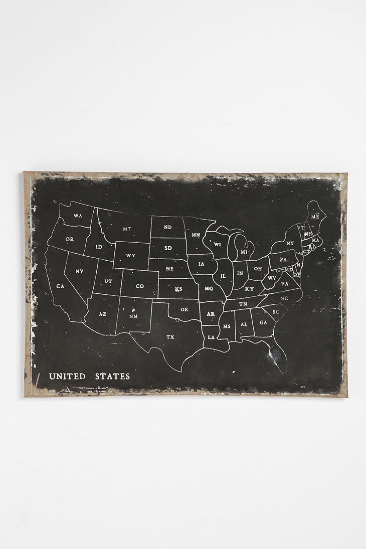 USA Wall Map UrbanOutfitters 189 best cartography