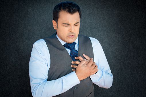 Angina is a specific form of chest pain that happens when the blood flow to the heart decreases. This usually comes about due to partial obstruction of one of the coronary arteries and results in pain, sensation of pressure, or having the chest squeezed.