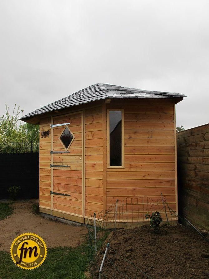 Cabane de jardin d'angle sur mesure