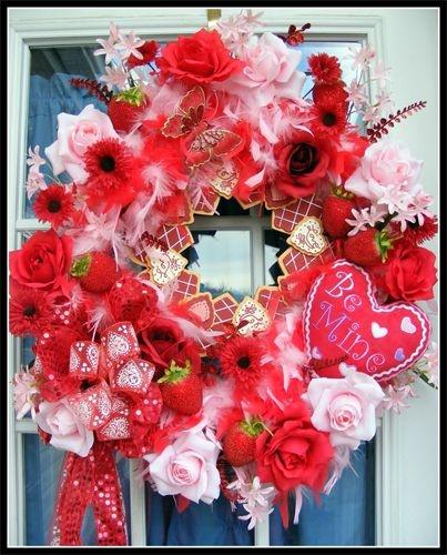 158 best Valentine Wreaths, Floral Decor images on Pinterest ...