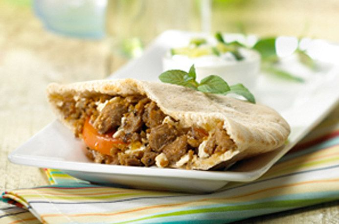 Vegetarian gyro recipe with crumbles instead of meat