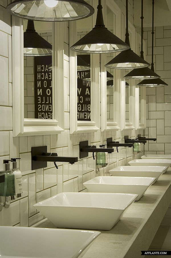 Iluminacion Baño Publico:Restaurant Bathroom Design Ideas