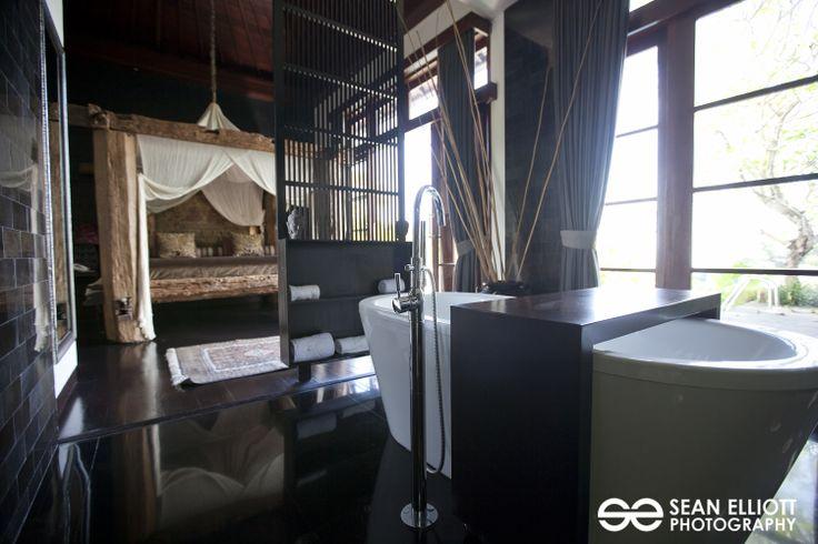 Umah Raja master bedroom and bathroom