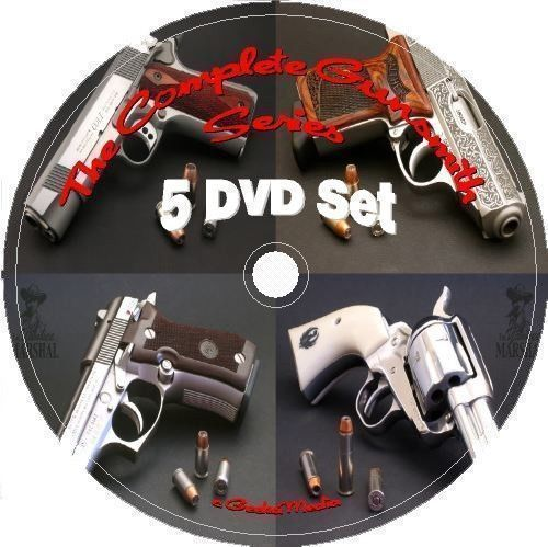 Gunsmithing Reloading Manuals Complete Series 5 DVD gunsmith gun pistol NRA  #GeekaMedia