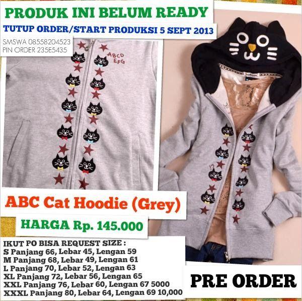 ABC Cat Hoodie Jaket | Jaket Sweater Hoodie Cute Unique