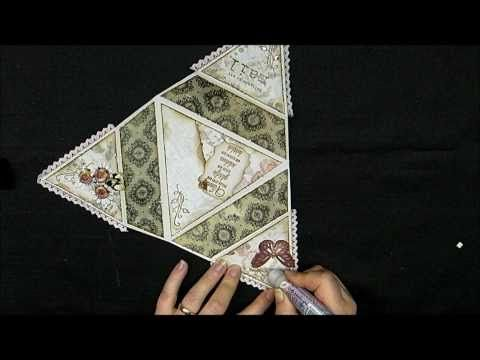 Starfolded card - Tutorial...This is a WOW! card and wonderful tutorial on how to make the folded star card...other great tutorials are also in this crafter/s blog...