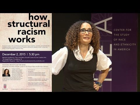 "How Structural Racism Works - HOW STRUCTURAL RACISM WORKS Professor Patricia Rose, Director of Brown University""s Center for the Study of Race and Ethnicity in America, delivers the inaugural Provost Lecture Series"