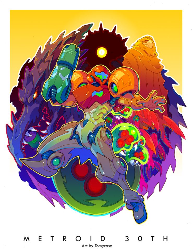 "it8bit: "" Metroid 30th Anniversary Tribute Art Created by Tomycase """