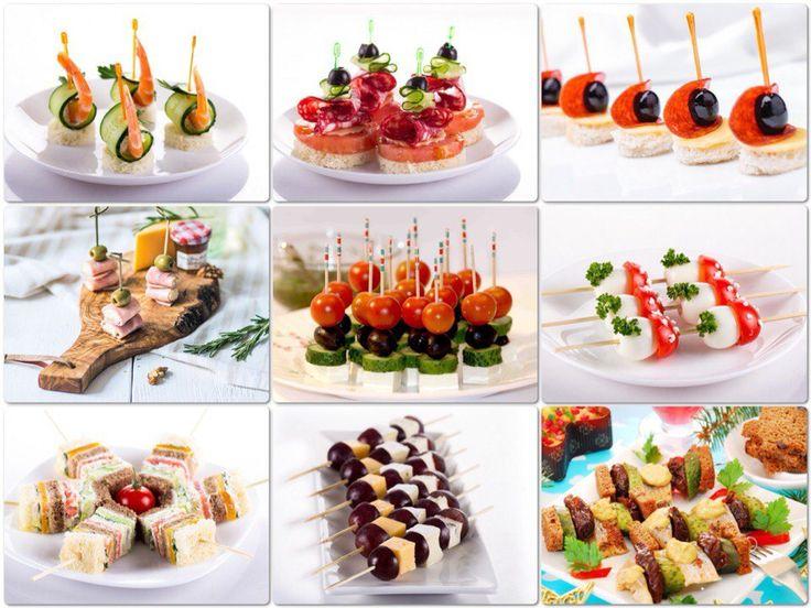 канапе для детей на шпажках на праздничный стол простые рецепты с фото