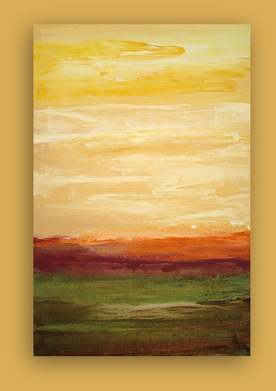 """Abstract Acrylic Painting on Gallery Canvas Titled: EARTHY MOSS 24x36x1.5"""" by Ora Birenbaum"""